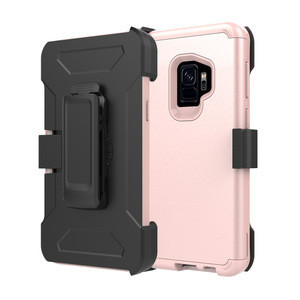 Defender Armor Protection Belt Clip Case For Samsung Galaxy S9 Plus Heavy Duty Hybrid Rugged Shell Cover Case