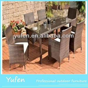 Dining room Poly Rattan Outdoor Furniture /garden dining set/garden outdoor dining table set