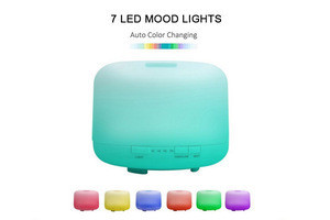 Factory wholesales led oil flash room round diffuser air aroma diffuser