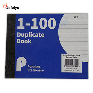 Half Size Duplicate Receipt Book Numbered Cash 1 - 100 Pages Pad Carbon Invoice