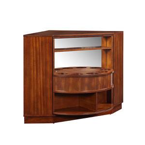 Hentz Midcentury Modern Rotating Corner Bar Cabinet