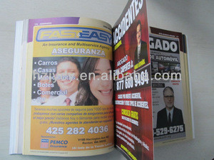 High quality colorful yellow page printing