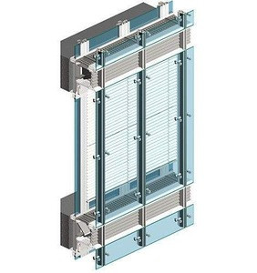 Hot selling aluminium curtain wall with glass