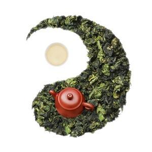 Oolong tea base blooming tea
