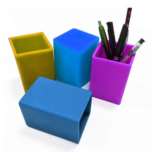 Popular Silicone Pen Box Holder Cup Pen Pencil Holder for Stand School Desk Organizer Office Stationery Storage