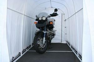 Steel Frame Fabric Tensile Waterproof Motorcycle Tent Cover