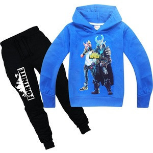 Stock fortnite hoodie and joggers set for youth top sale no moq cheapest kid's hoodie and pant set in fortnite print