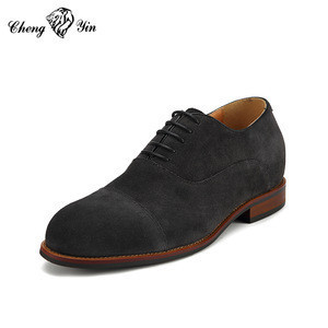Suede Leather Increased 6-10cm Invisibly ncrease height hidden Men Elevator Shoes