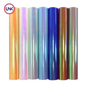 UNIK Heat transfer laser holographic foil for leather fabric,3D sublimation transfer film holographic textile