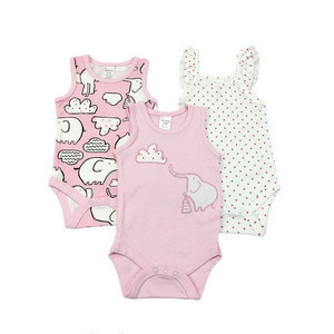 Wholesale baby summer vest with sleeveless bodysuit short sleeve triangle  newborn romper thin clothes