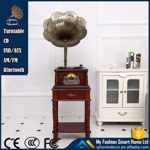 Wholesales Retro Wooden Vinyl Records Player / Gramophone / Phonograph / Antique Turntable