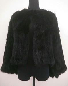 YR060 Australia Style Knitted Top Quality Rabbit Fur Jacket Wedding fur Bolero