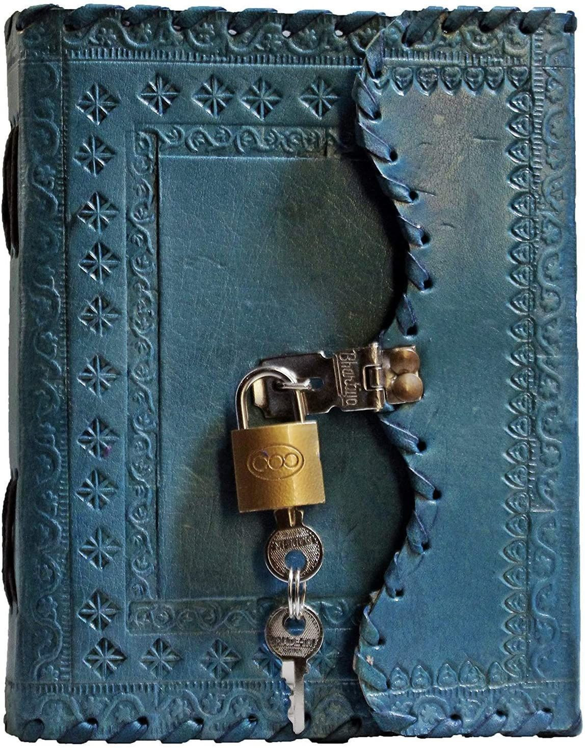 TUZECH Leather Genuine Vintage Leather Journal Travel Diary Write Poems Notebook Perfect Gift