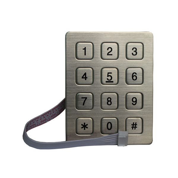3x4 keys stainless steel keypad for access control