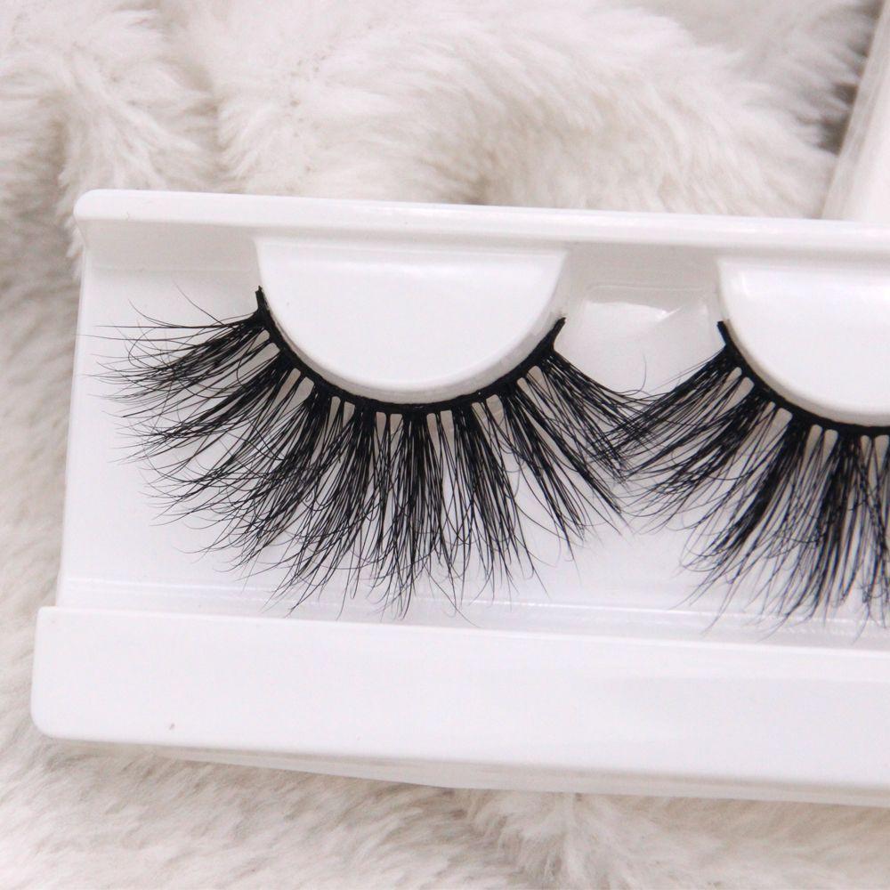 Wholesale 25MM Handmade Real Luxury Fluffy Mink Eyelashes