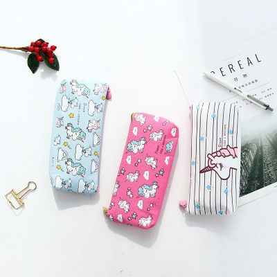 Hot sale high quality canvas material pencil case unicorn pencil case