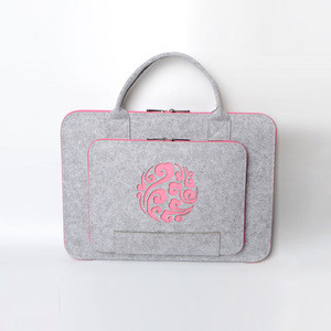 12 inch fashionable ladies business handbag felt computer bag  laptop bag