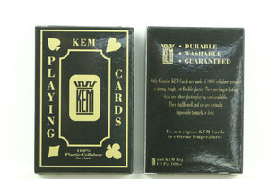 2015 HOT SALE 100% KEM plastic playing card