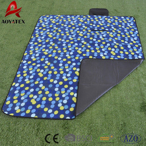 2018 hot sale eco-friendly camping mat green polor fleece picnic mat