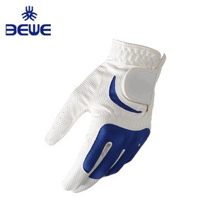 2019 Factory 4 Pillar Wholesale high quality great grip mens white cabretta leather Anti-slip custom golf gloves