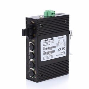 5 Port 10/100Mbps Industrial unmanaged Din-Rail Network Ethernet Switch 24V