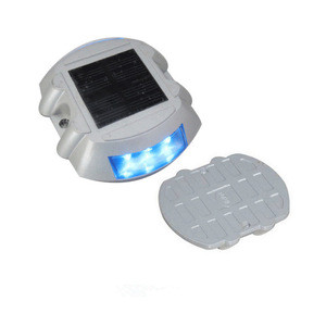 Aluminum Alloy body material Flashing Solar LED Traffic Sign Security Light Road Stud Decor Light