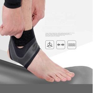 Ankle Support, Adjustable Compression Brace for Arthritis/Sprain Pain Relief/Sports Injuries & Recovery, Breathable Ankle Pads
