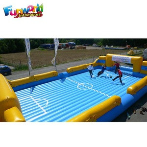 Cheap inflatable human football arena inflatable soccer field for sale