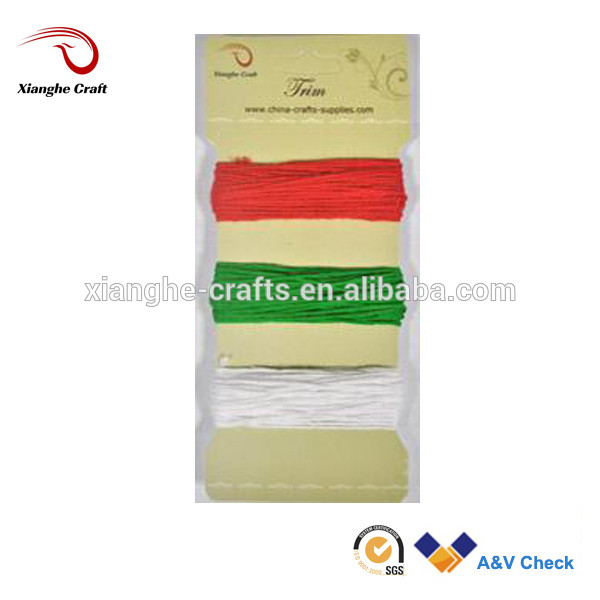 Christmas decorative colorful trim recycled 100 cotton yarn