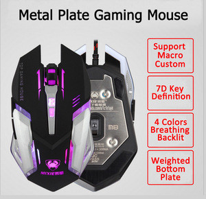 Computer Accessories Colorful Backlight Optical 7D USB Wired Gaming Mouse
