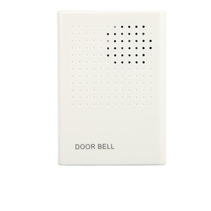 Dc 12V door bell parts,fireproof ABS material white wired electric door bell apartment door bell system