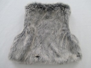 Fake fur vest for baby jersey whole lining