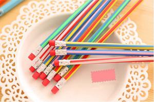 Flexible Soft Pencils With Eraser / Bendy pencils / magic pencils