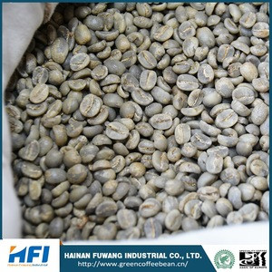 Green coffee beans wholesale price of raw coffee beans