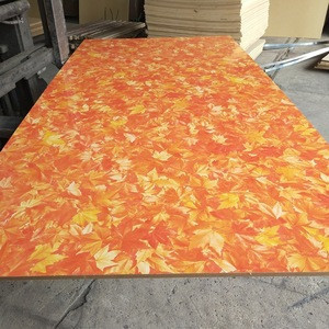 High Quality Melamine Laminated MDF Board With New Hot Selling Design of Fall Leaves