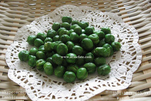 Hot Sale Colorful and Tasty coated green pea Grain Snacks