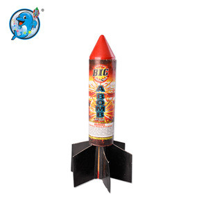 Huge saturn missile outdoor fireworks for opening ceremony party