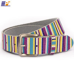 Ladies popular custom-made printing pu belt