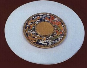 Pretty glass turntable plate lazy susan turntable