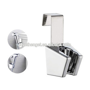 Removable Handheld Bidet Sprayer Holder Hanger with hook holder on toilet tank