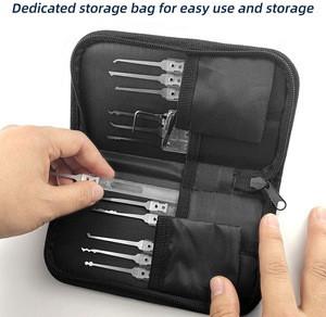 SS Multitool Lock Set 17pcs kits 1 pc transparent padlock
