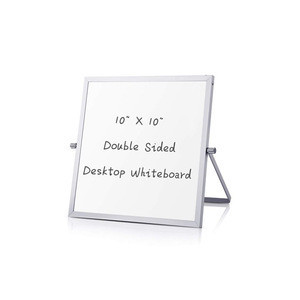 Tabletop Double-Sided 10x10 Inches Mini Dry Erase Magnetic Desktop Whiteboard
