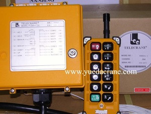 Wireless remote control for overhead crane and gantry crane hoist