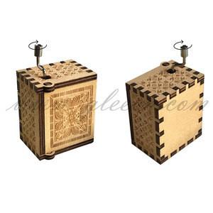 Wooden Custom Mini Hand Crank Music Box