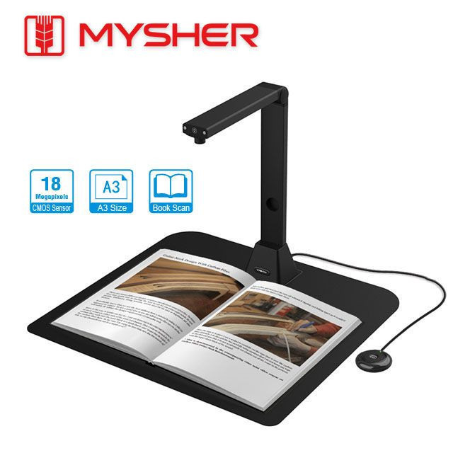 A3 Size, 18MP Book Scanner