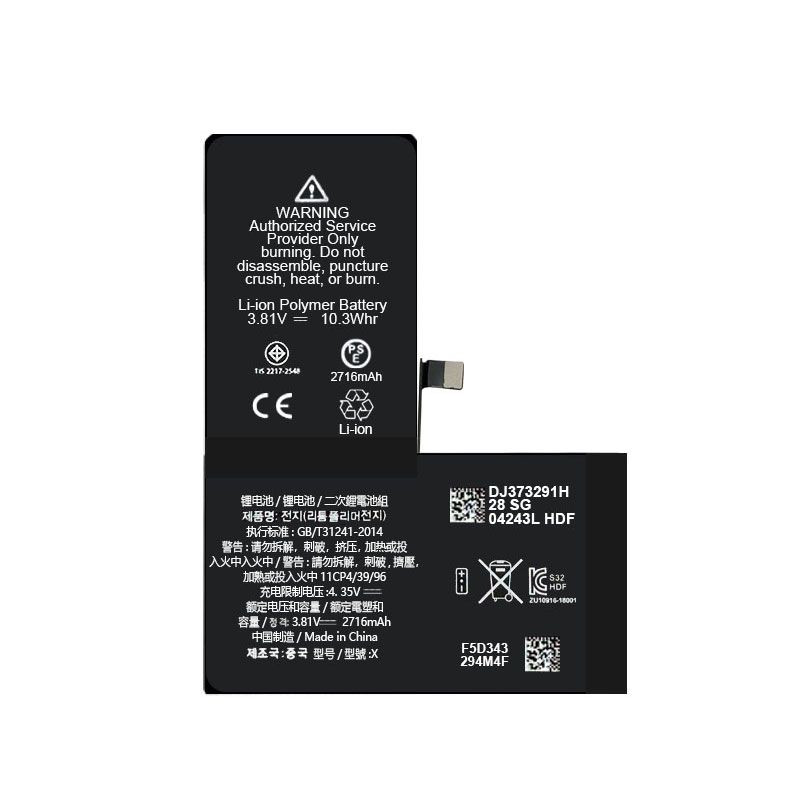 Replacement Battery Compatible For iPhone X