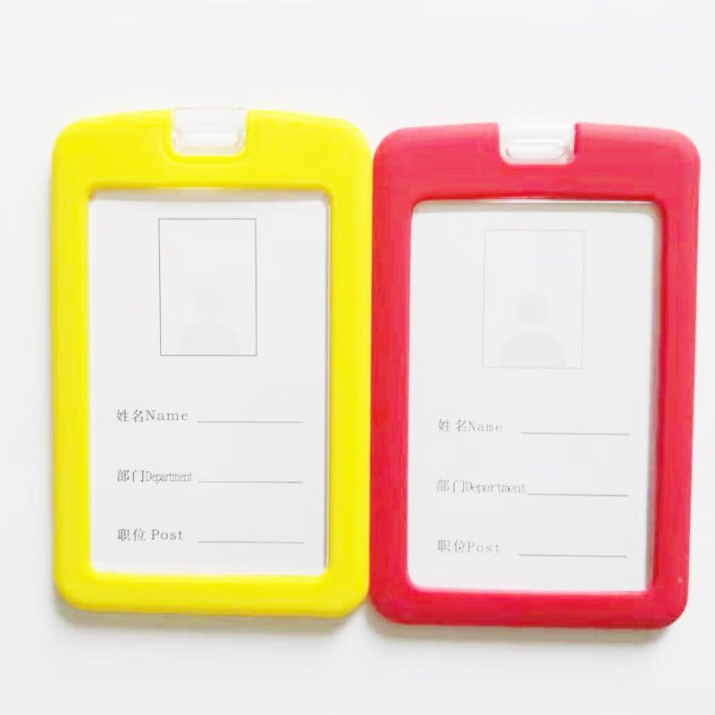 Environmental Silicone ID Card Badge Holder with Standard Lanyards