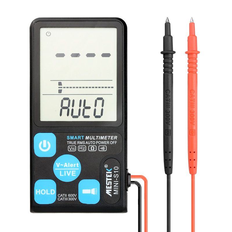 Factory Price Mestek Smart Multimeter MINI-S10 600V Voltage Current Resistance Tester
