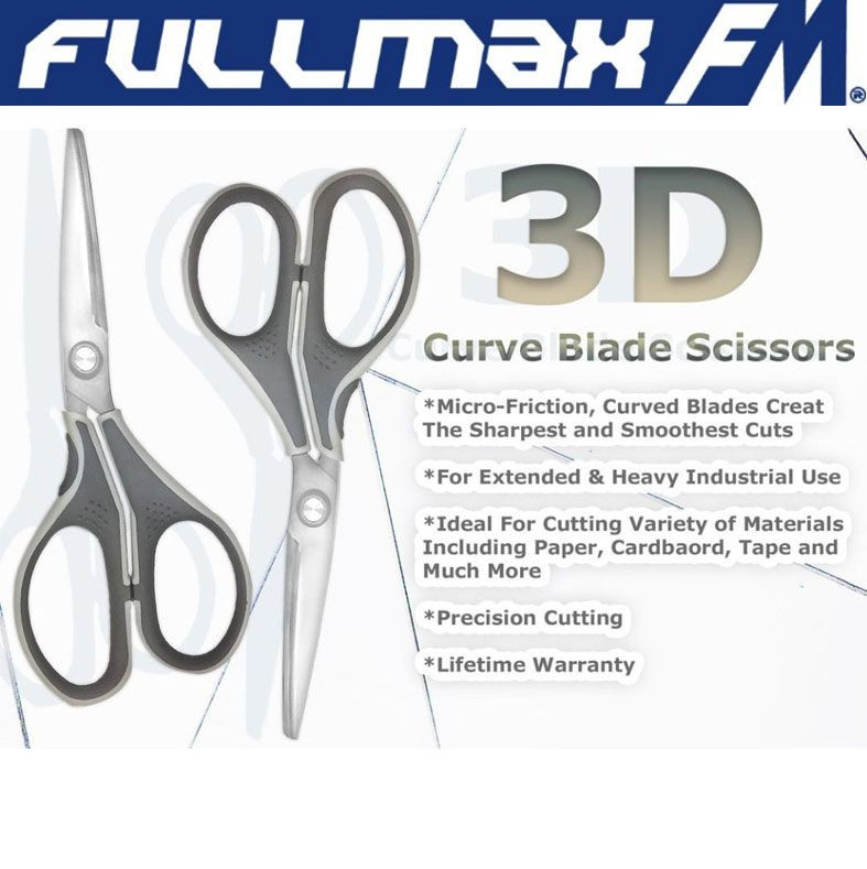 New Micro-Friction 3D Curve Blade Scissors