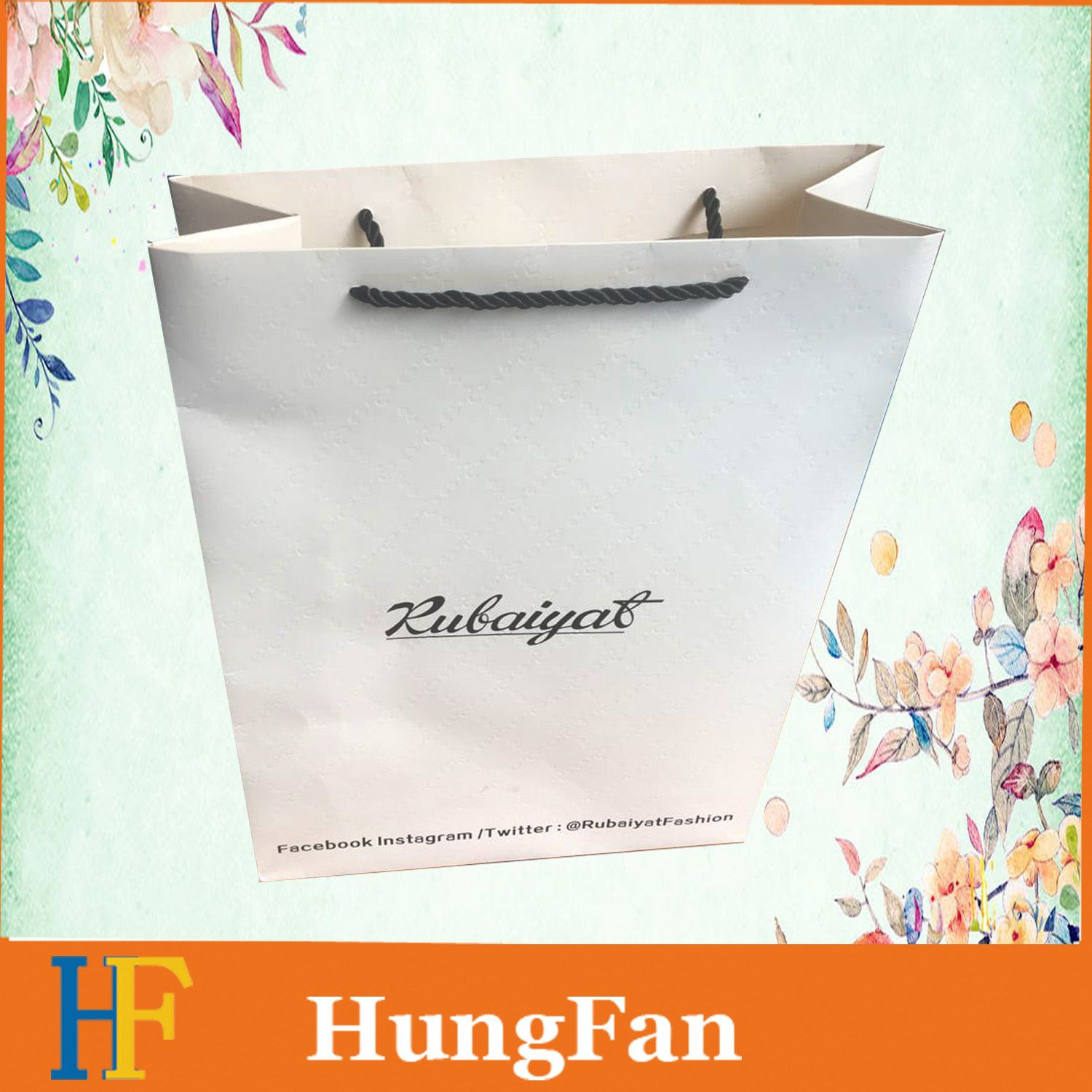 Cheap Customized Logo Clothing and Shoe Shopping Paper Bags M Size